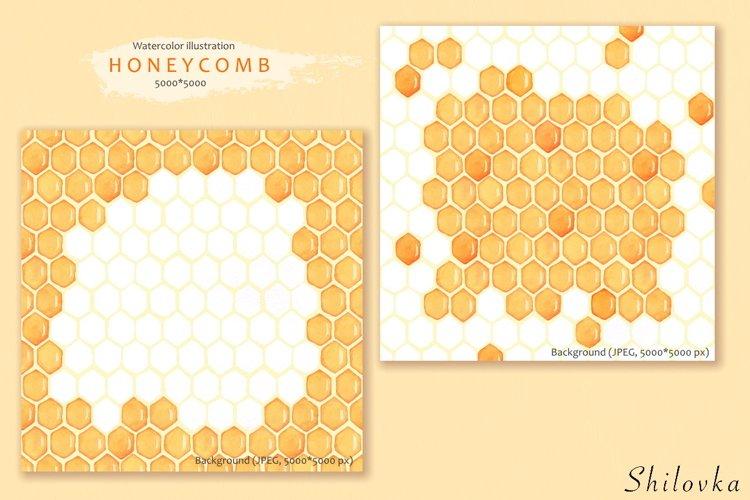 Honeycomb. Watercolor