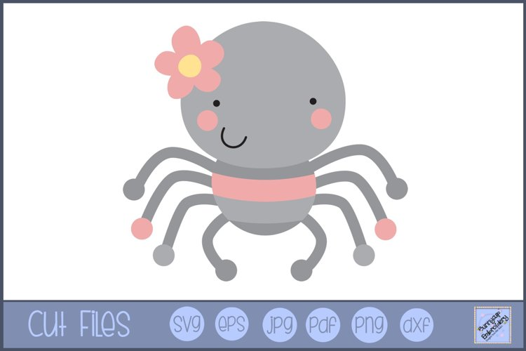 Girl Spider SVG | Cute Bug SVG example image 1