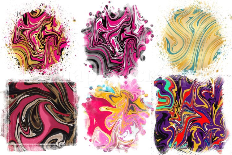Marble Sublimation Backgrounds