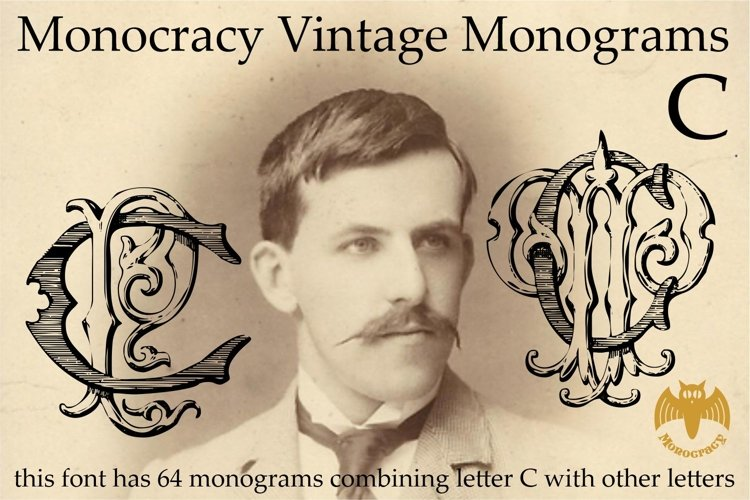 Monocracy Vintage Monograms C example image 1