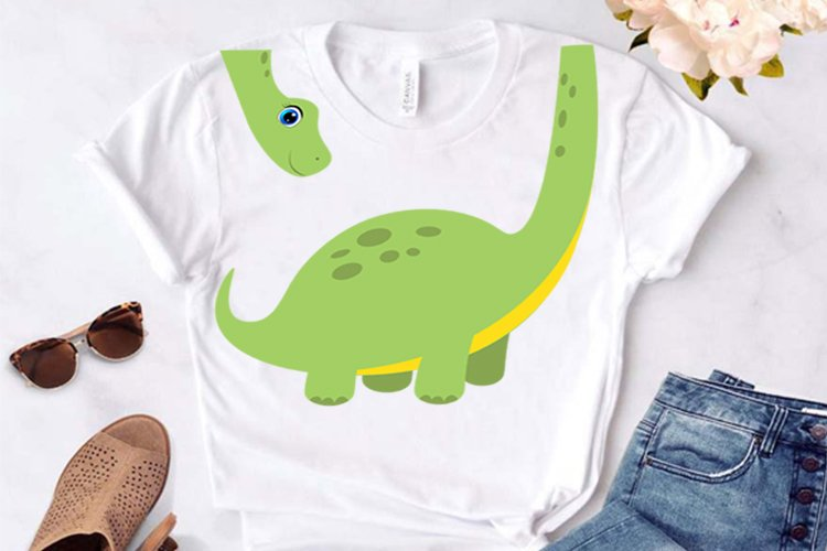 Cute Dinosaur svg, cute dinosaur svg, clipart, funny dino sv example image 1