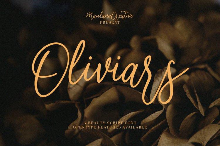Oliviars Beauty Script Font example image 1