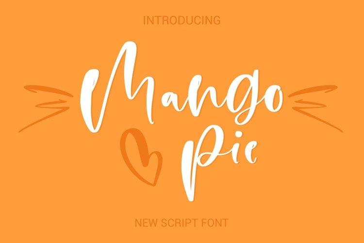 Web Font Mango Pie Script Font example image 1