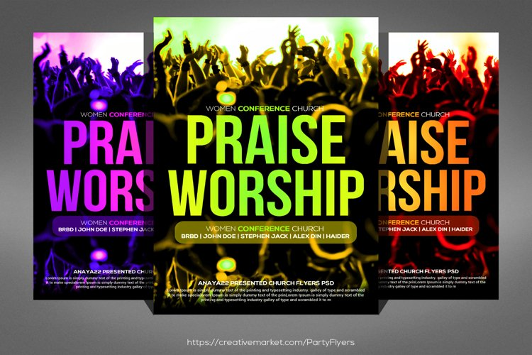 Praise And Worship Flyer example image 1