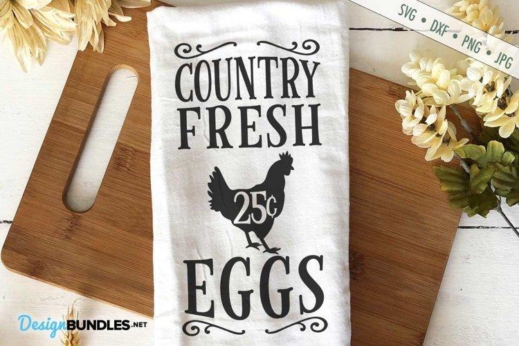 Country Fresh Eggs SVG | Chicken Eggs SVG | Farm Kitchen SVG