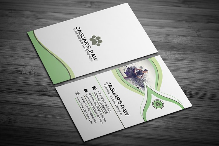 Super Creative Business Card Template Design example image 1