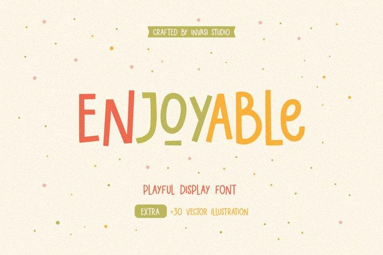 Enjoyable | Playful Font example image 1