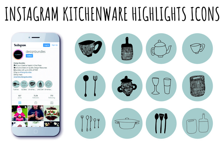 INSTAGRAM KITCHENWARE HIGHLIGHTS ICONS example