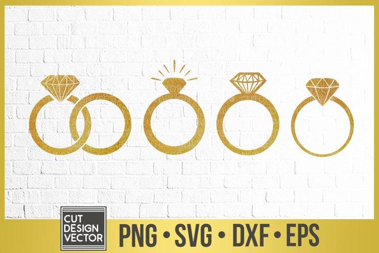 Diamond Ring SVG, Ring Clipart