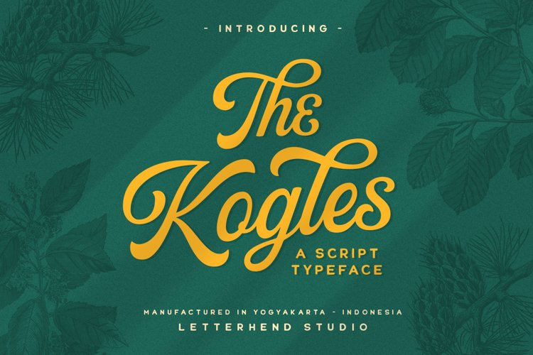 The Kogles Script Typeface example image 1