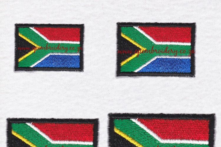 South African Flag Machine Embroidery Design example image 1