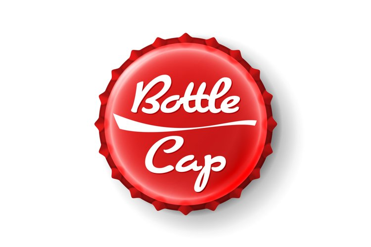 Beer Cap Vector. Red Bottle Cap. Mock Up Temaplate