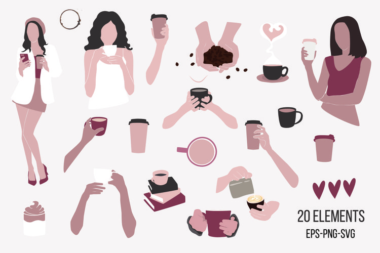 Coffee SVG, Coffee Clip art example image 1