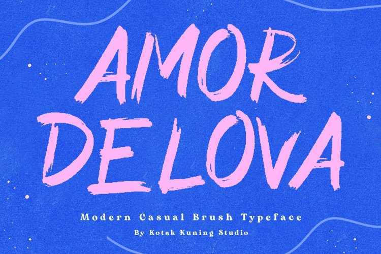 Brush Font - Amor Delova example image 1