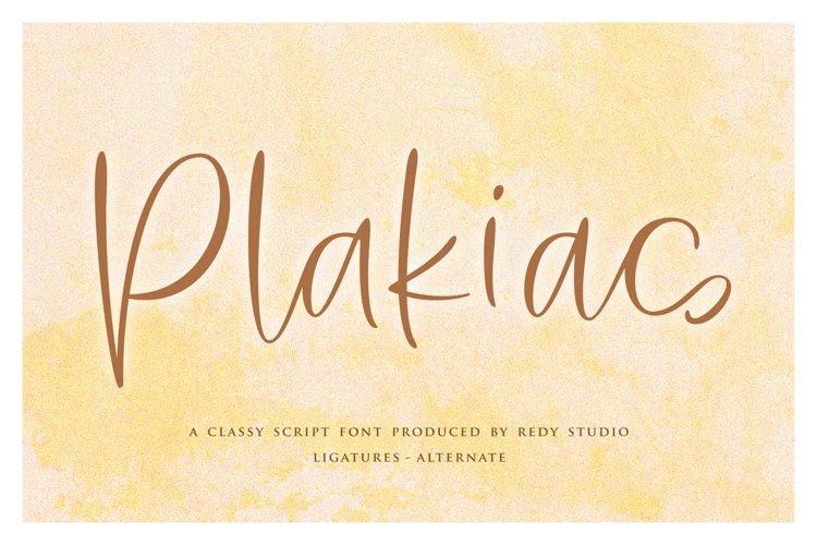 Plakias | Classy Script example image 1