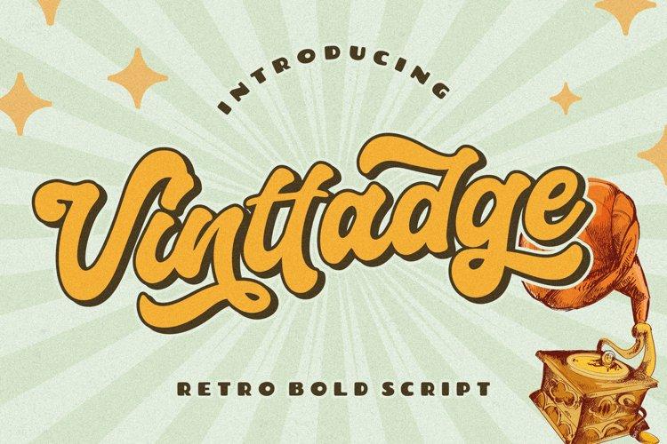 Vinttadge Retro Bold Script example image 1
