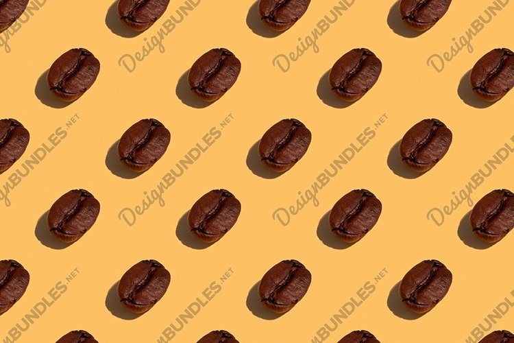 Seamless regular pattern with coffee beans. example image 1