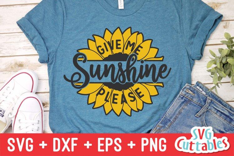 Sunflower SVG | Give Me Sunshine Please | Shirt Design