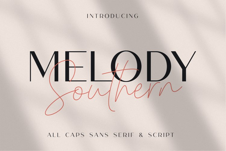 Melody Southern Duo - Luxury Font Duo