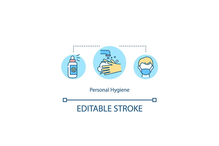 Personal hygiene concept icon example image 1