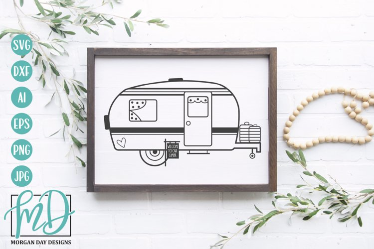Welcome To Our Camper SVG - Camping SVG DXF PNG EPS