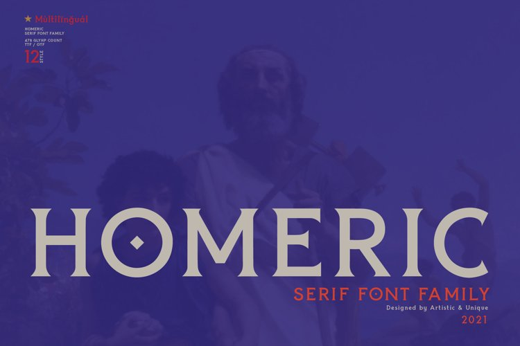 Homeric- Serif font Family example image 1