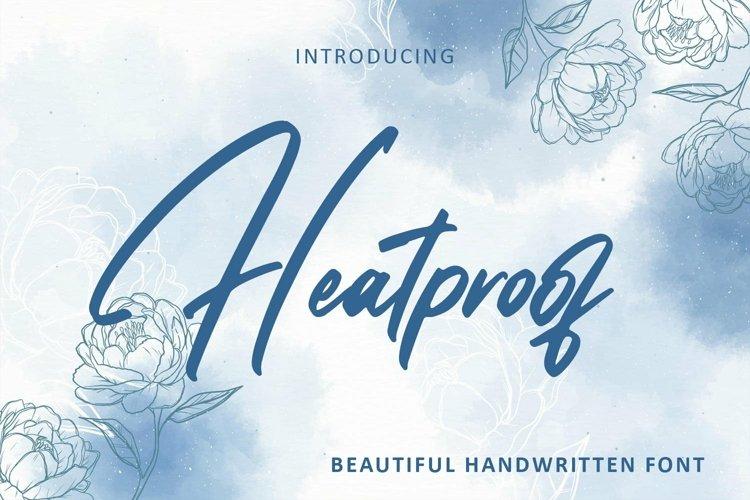Web Font Heatproof - Handwritten font example image 1