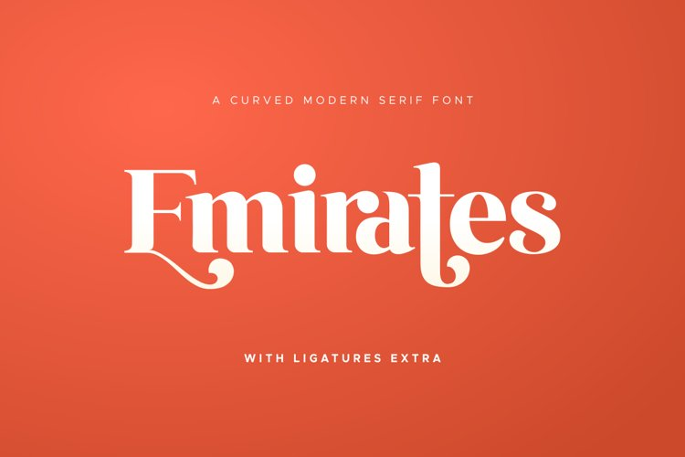 Emirates - Beautiful Curved Font
