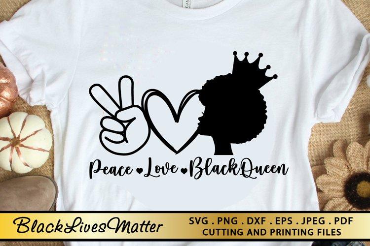 Black Woman SVG PNG EPS DXF Black Queen SVG MELANIN SVG example image 1