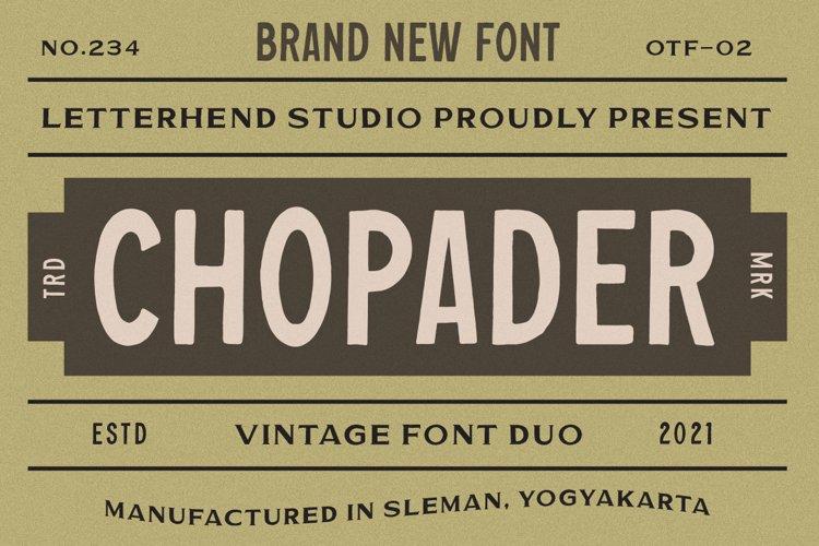 Chopader - Vintage Duo example image 1