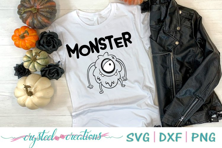 Monster SVG, DXF, PNG, EPS example image 1