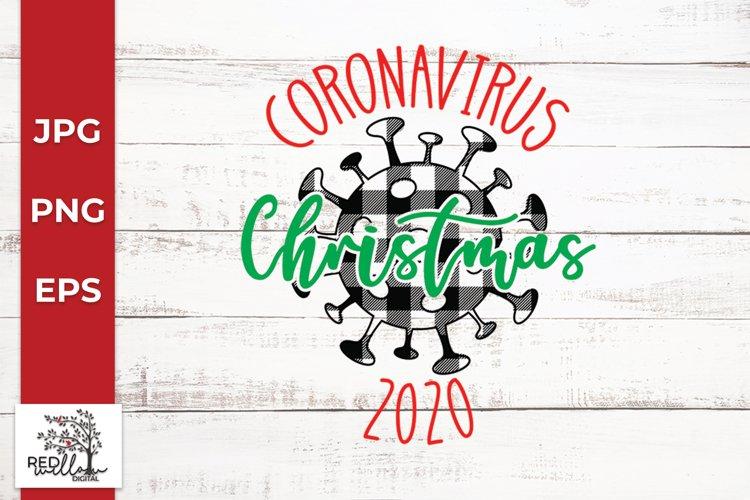 Coronavirus Christmas SVG example image 1