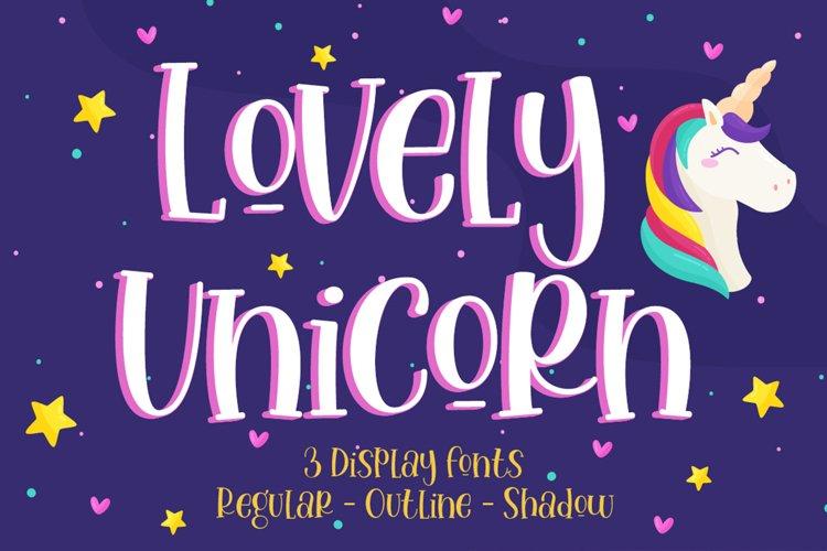 Lovely Unicorn - Handwritten Font example image 1