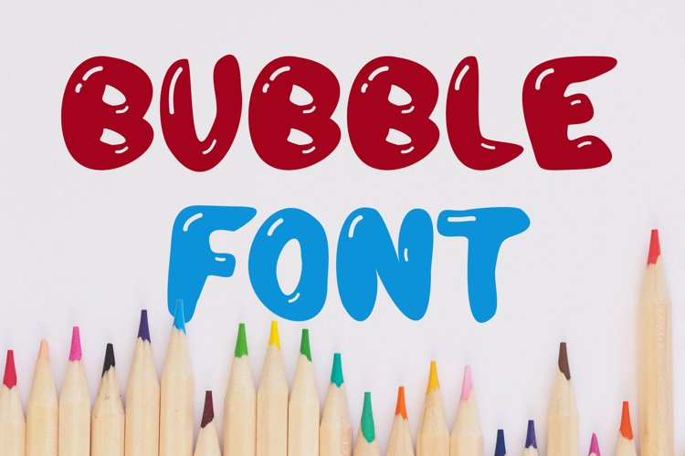 Bubble Letter Candy Font