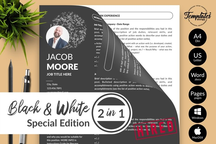 Creative Resume CV Bundle for Word & Pages Jacob Moor example image 1