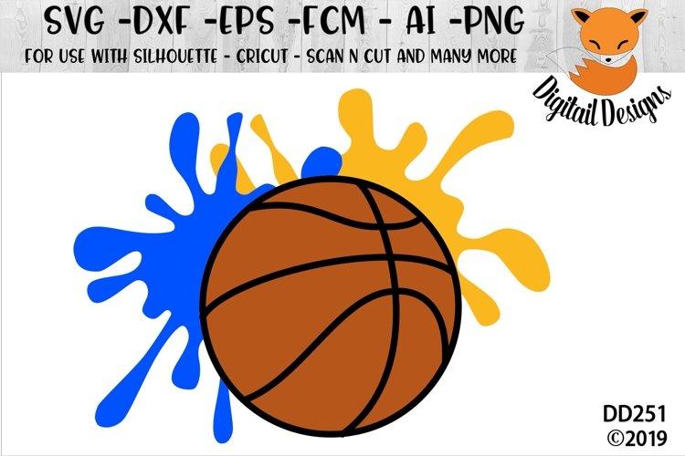 Basketball Paint Splat SVG