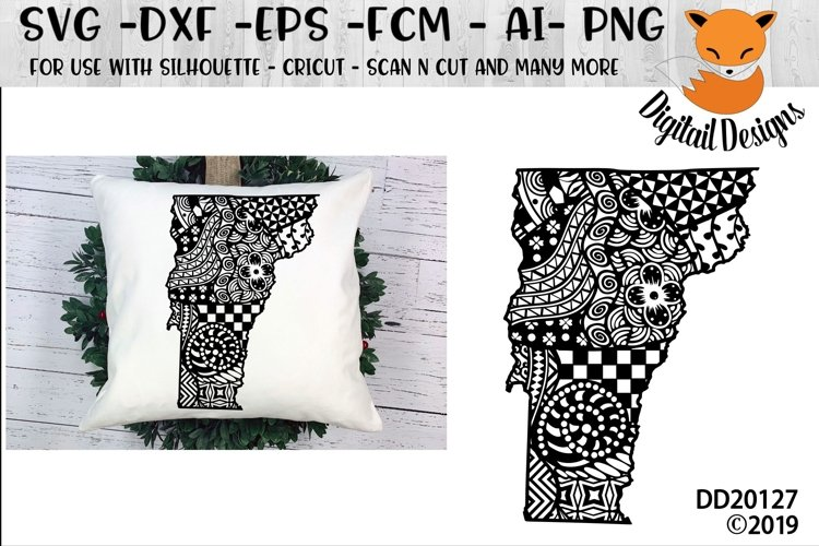 Zentangle Vermont Doodle SVG example image 1