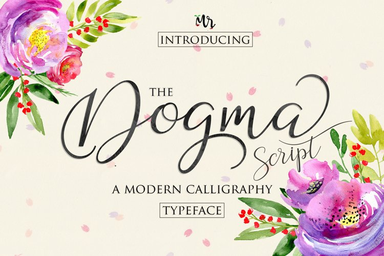 Dogma Script | WEB FONT example image 1