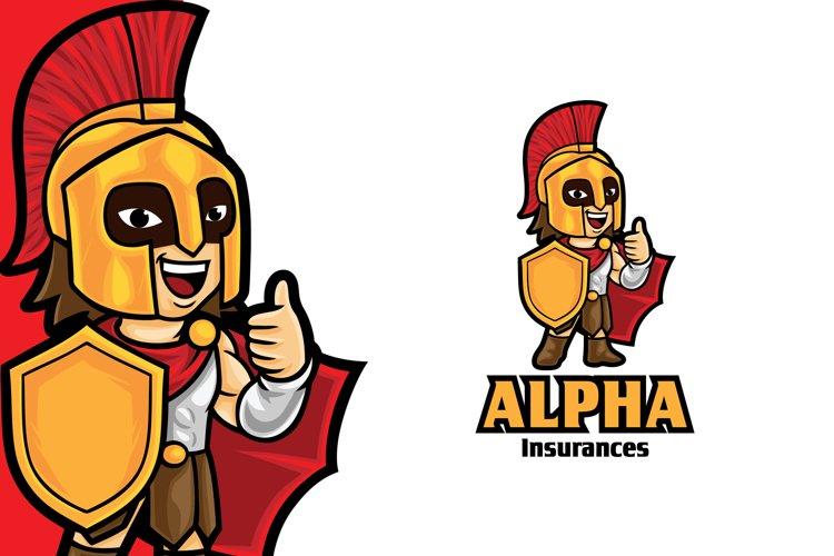 Warrior Insurance Mascot Logo Template