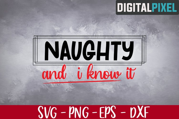 Naughty and I Know It Svg, Merry Christmas Svg, Dear Santa