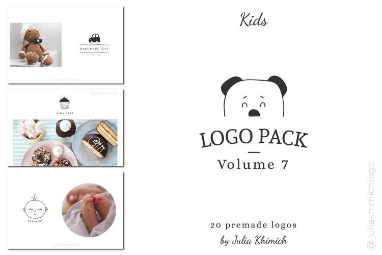 Logo Pack Volume 7. Kids example image 1
