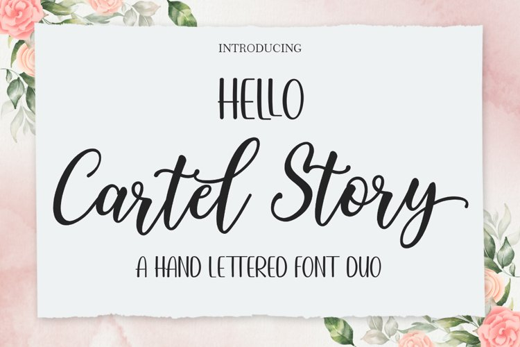 Hello Cartel Story Script Font DUO example image 1