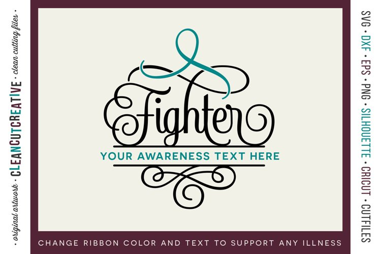 FIGHTER - CANCER AWARENESS - any cause SVG cut file design
