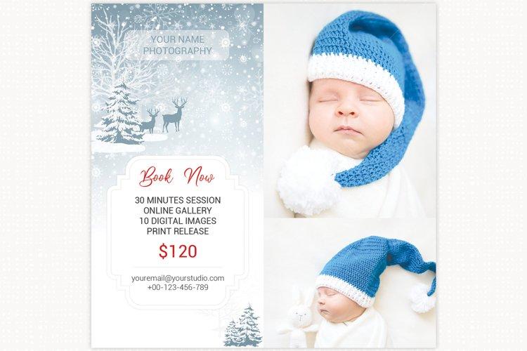 Winter Mini Session Template, Digital Photography Marketing