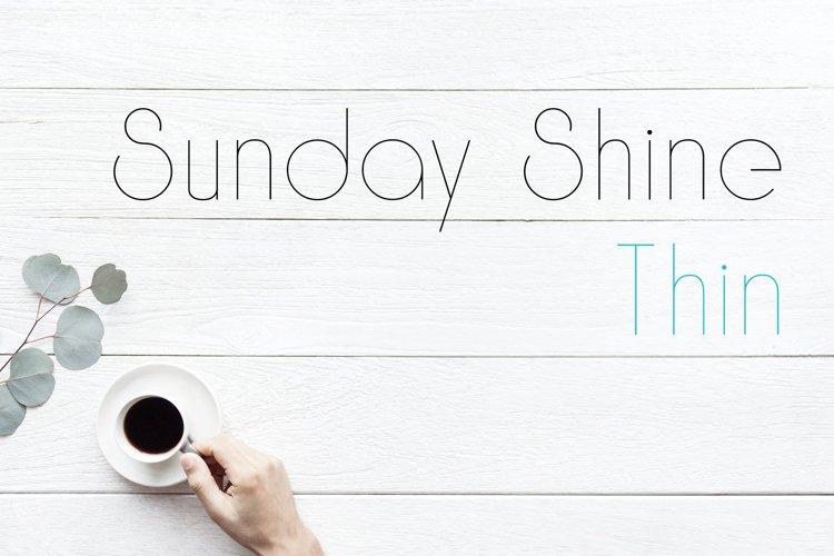 Sunday Shine - Thin example image 1