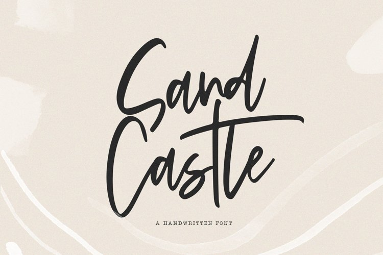Sandcastle - A Handwritten Script Font example image 1