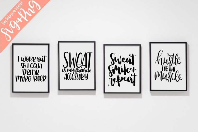 Work Out Quote Bundle - Handdrawn - SVG/PNG