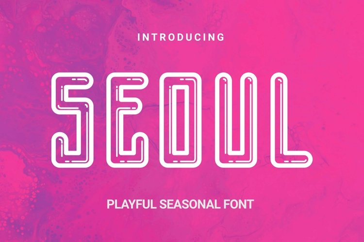 Web Font Seoul Font example image 1