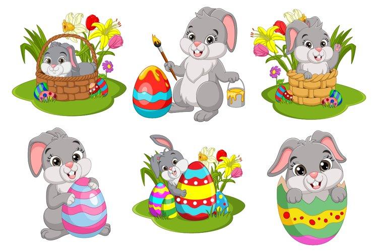 Cute Easter Bunnies Cartoon Collection