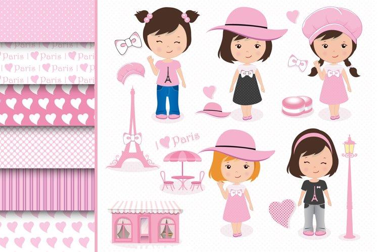 Paris clipart set, Paris graphics